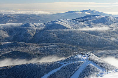 Winter Scenes Photograph - The Adirondacks by Bernard Chen