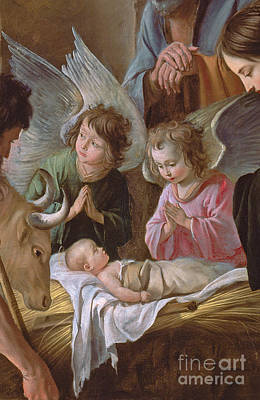 Nativity Painting - The Adoration by Le Nain