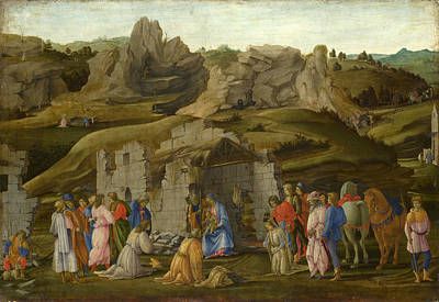 The Adoration Of The Kings Print by Filippino Lippi