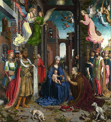 Jan Gossaert Painting - The Adoration Of The Kings by Jan Gossaert