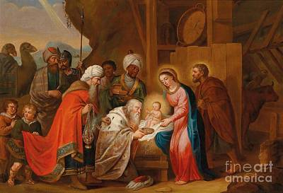 Balthasar Painting - The Adoration Of The Magi by Celestial Images