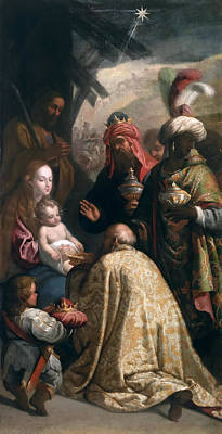 Adoration Magi Painting - The Adoration Of The Magi by Eugenio Cajes
