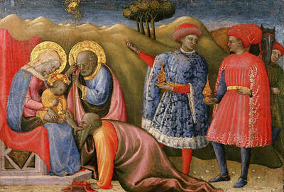 Adoration Magi Painting - The Adoration Of The Magi by Paolo Schiavo