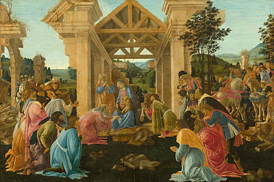 Adoration Magi Painting - The Adoration Of The Magi by Sandro Botticelli