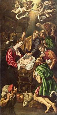The Adoration Of The Shepherds, C.1620 Print by Luis Tristan de Escamilla