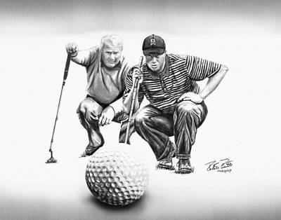 Tiger Woods Drawing - The Advisor Le by Peter Piatt