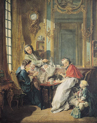 Doll Photograph - The Afternoon Meal, 1739 Oil On Canvas by Francois Boucher