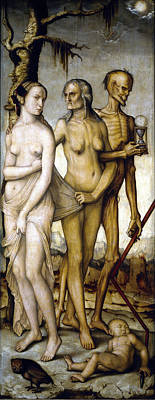 The Ages Of Man And Death Print by Hans Baldung