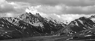 The Alaskan Range Print by Angie Schutt