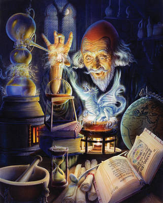 Wizard Photograph - The Alchemist by Andrew Farley