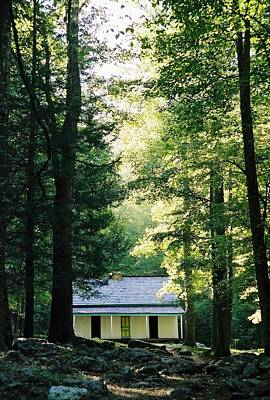 The Alfred Reagan Cabin Gatlinburg Print by John Saunders