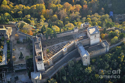 The Alhambra Aerial Photography Print by Guido Montanes Castillo