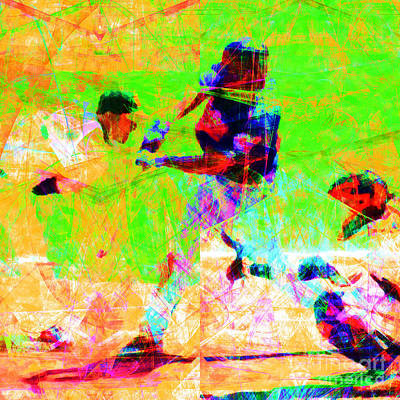 The All American Pastime 20140501 Square Print by Wingsdomain Art and Photography