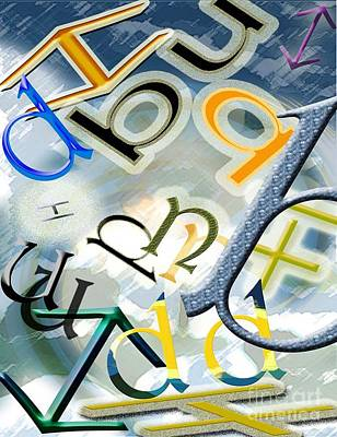The Alphabetics Print by Brigitte C Robinson