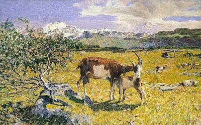 Literature Painting - The Alps In May by Giovanni Segantini