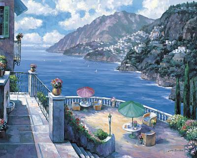 Zaccheo Painting - The Amalfi Coast by John Zaccheo
