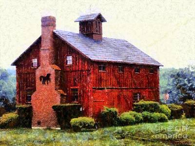 The American Dream Red Barn Print by Janine Riley