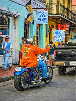 The American Way - Harleys Pickups And Huge Ass Beers - Paint Print by Steve Harrington