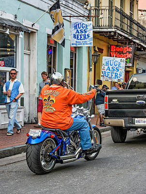 Attitude Photograph - The American Way - Harleys Pickups And Huge Ass Beers by Steve Harrington