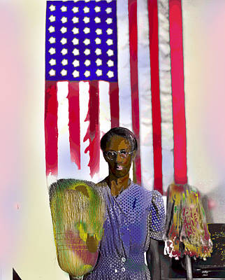 Stars And Stripes Mixed Media - Stars And Stripes by Charles Shoup