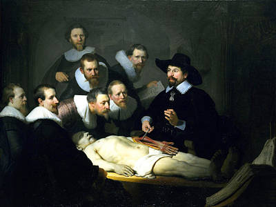 The Anatomy Lesson Print by Rembrandt