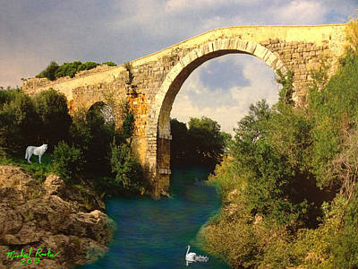 The Ancient Bridge Print by Michael Rucker