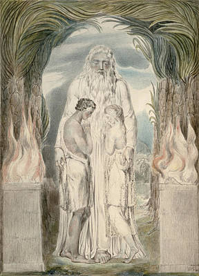 Guardian Drawing - The Angel Of The Divine Presence by William Blake