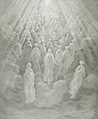 The Angels In The Planet Mercury Print by Gustave Dore