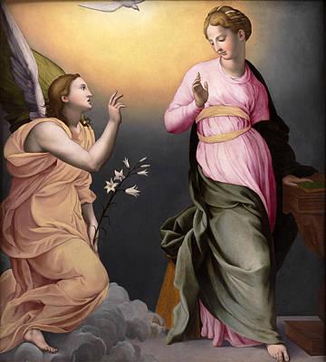 The Annunciation Print by Bronzino