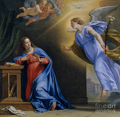 The Annunciation By Philippe De Champaigne Print by MMA Wrightsman Fund