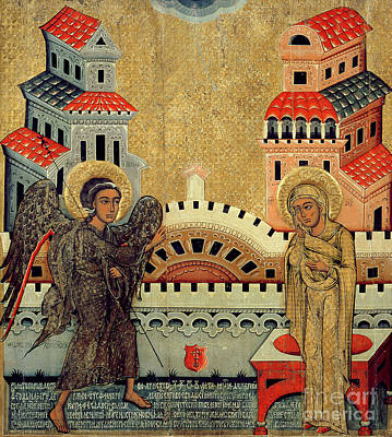 Orthodox Byzantine Icons Painting - The Annunciation by Fedusko of Sambor