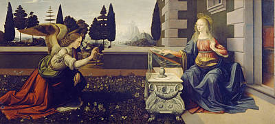 The Annunciation Print by Leonardo da Vinci