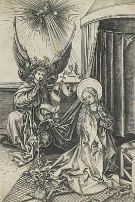 The Annunciation Print by Martin Schongauer