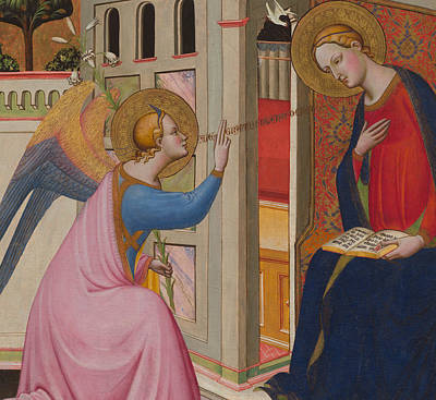 The Annunciation Print by Master of Saint Verdiana