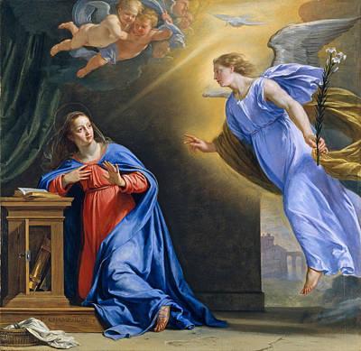 Philippe De Champaigne Painting - The Annunciation by Philippe de Champaigne