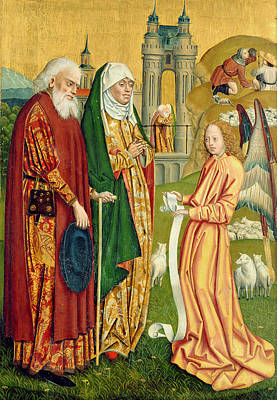 The Annunciation To Joachim And Anne, From The Dome Altar, 1499 Print by Absolon Stumme