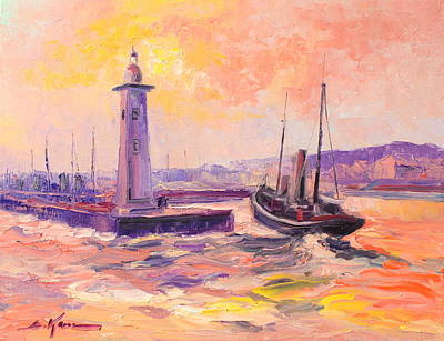 Anstruther Painting - The Anstruther Harbour by Luke Karcz