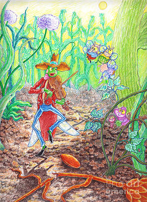The Ant And The Grasshopper Print by Teodora Reytor