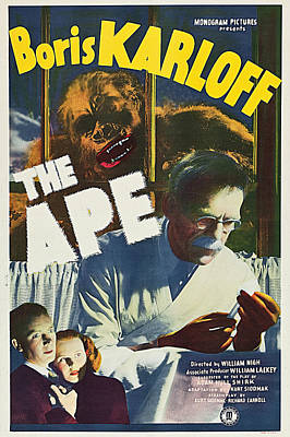 Movie Poster Photograph - The Ape by MMG Archives