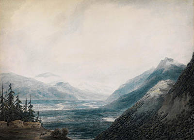 Horizontal Painting - The Approach To Martigny Rhone Valley Valais by Celestial Images