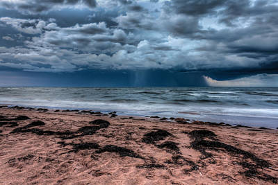Storm Clouds Sunset Twilight Water Photograph - The Approaching Storm by Matt Dobson