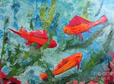 Tones Painting - The Aquarium by Mario Perez