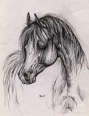 The Arabian Horse With Thick Mane Print by Angel  Tarantella