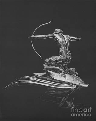 Radiator Drawing - Icons The Archer by Matthew Jarrett