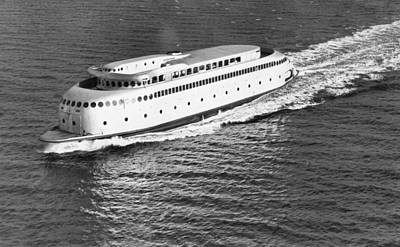 Puget Sound Photograph - The Art Deco Ferry Kalakala by Underwood Archives