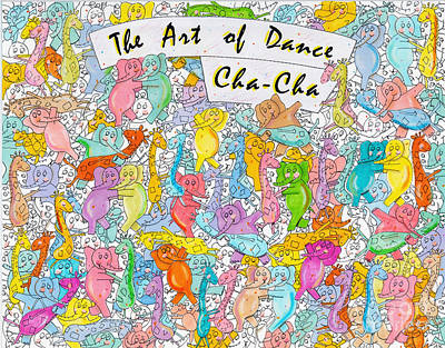The Art Of Dance / Cha-cha Print by Aaron Koster