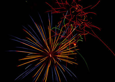 The Art Of Fireworks  Print by Saija  Lehtonen