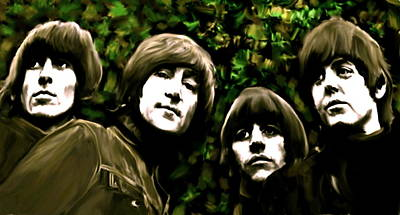 The Art Of Sound  The Beatles Print by Iconic Images Art Gallery David Pucciarelli