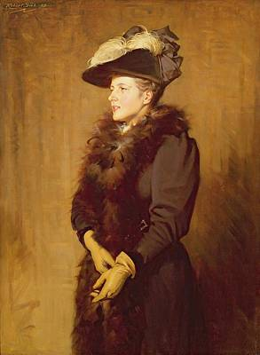 Boa Constrictor Painting - The Artists Wife, 1893 by Robert Gibb