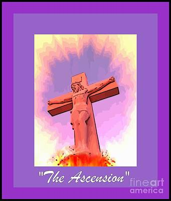 Christian Art . Devotional Art Photograph - The Ascension Of Christ by John Malone